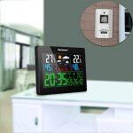 Excelvan Horloges Stations Météo avec Écran LED Intérieure/Extérieure Sans Fil avec Capteur extérieur (Baromètre) avec Alarme de la marque Excelvan image 4 produit