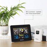 Excelvan Station Météo Écran Couleur LCD Prévision Météo Pression Atmosphérique Alarme avec Répétition Noir de la marque Excelvan image 4 produit