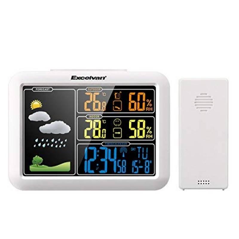 excelvan horloge colorée station météo sans fil av