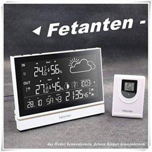 Fetanten Station Meteo Interieur Exterieur, WS004E Thermomètre Intérieur / Extérieur avec 7.5'' LCD écran/DCF Signal/DST | Station Meteo avec 3 Capteurs Extérieurs de la marque Fetanten image 0 produit