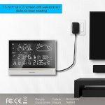 Fetanten Station Meteo Interieur Exterieur, WS004E Thermomètre Intérieur / Extérieur avec 7.5'' LCD écran/DCF Signal/DST | Station Meteo avec 3 Capteurs Extérieurs de la marque Fetanten image 3 produit