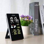 FLOUREON Station Météo Thermomètre Hygromètre sans Fils Intérieur / Extérieur Avec Ecran LCD Couleur et Sonde de la marque FLOUREON image 1 produit