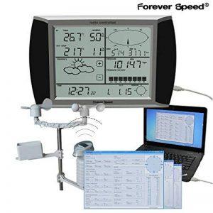 Forever Speed Station Météo Intérieure/Extérieure avec Sans Fil Capteur, station météo solaire, logiciel USB écran tactile de la marque Forever Speed image 0 produit