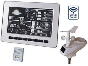 Froggit HP1000se (Version 2018) Wi-Fi Internet Station météo radio professionnelle–images-écran solaire Unité extérieure vollfarb Écran LCD, avec mémoire flash 4Go, Miracle Ground anbindung de la marque Froggit image 0 produit