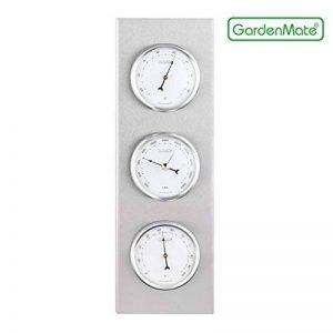 GardenMate® Station météo analogique BOB 30x10cm baromètre thermomètre hygromètre, cadre en acier inox de la marque GardenMate® image 0 produit