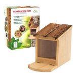 Gardigo Mangeoire pour écureuil, Toit ouvrant; maison, bar, distributeur de nourriture en bois pour plusieurs animaux; facile à remplir, nettoyer de la marque Gardigo image 5 produit