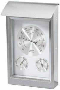 Hama Milano Station météo analogique avec thermomètre/hygromètre/baromètre en acier inoxydable de la marque Hama image 0 produit