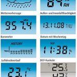 Hama Station Météo Sans Fil Ews-800 (Horloge Radio, Thermomètre, Hygromètre et Baromètre, Capteur Extérieur Inclus avec Portée de 100 M), Noire de la marque Hama image 6 produit