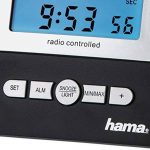 Hama Station Météo Sans Fil Ews-800 (Horloge Radio, Thermomètre, Hygromètre et Baromètre, Capteur Extérieur Inclus avec Portée de 100 M), Noire de la marque Hama image 4 produit