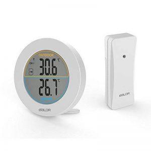 HOCOSY Thermomètre intérieur/extérieur, Détection de Température LCD Digital sans Fil Max/Min Rond Blanc de la marque HOCOSY image 0 produit