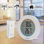 HOCOSY Thermomètre intérieur/extérieur, Détection de Température LCD Digital sans Fil Max/Min Rond Blanc de la marque HOCOSY image 3 produit
