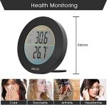 HOCOSY Thermomètre intérieur/extérieur, Détection de Température LCD Digital sans Fil Max/Min Rond Noir de la marque HOCOSY image 4 produit