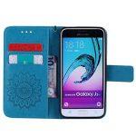 Housse Galaxy J3 (2016), Etui en PU Cuir Portefeuille Coque pour Samsung Galaxy J3 (2016) SM-J320F fleurs Datura Modèle Case avec Fonction Support Stand + porte-clés(T) de la marque Lohpe image 4 produit