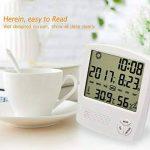 HUABEI LCD Digital Thermomètre Hygrometre Interieur, Thermo-hygromètre Électronique, Thermomètre Hygrometre Numérique sans Fil, Thermomètre Chambre Bébé, Portable Taille Blanc de la marque HUABEI image 2 produit