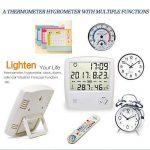 HUABEI LCD Digital Thermomètre Hygrometre Interieur, Thermo-hygromètre Électronique, Thermomètre Hygrometre Numérique sans Fil, Thermomètre Chambre Bébé, Portable Taille Blanc de la marque HUABEI image 3 produit
