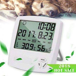 HUABEI LCD Digital Thermomètre Hygrometre Interieur, Thermo-hygromètre Électronique, Thermomètre Hygrometre Numérique sans Fil, Thermomètre Chambre Bébé, Portable Taille Blanc de la marque HUABEI image 0 produit