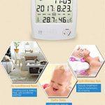HUABEI LCD Digital Thermomètre Hygrometre Interieur, Thermo-hygromètre Électronique, Thermomètre Hygrometre Numérique sans Fil, Thermomètre Chambre Bébé, Portable Taille Blanc de la marque HUABEI image 4 produit