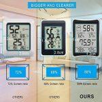 humidité Mètre, Hygromètre, [2018Nouvelle version] Cohcoh multifonctionnel Température Humidité moniteur LCD Digital Thermomètre d'intérieur avec min/max Records, ° C/° F Switch, des Mesures de précision pour bureau à domicile, etc. de la marque CohCoh image 1 produit