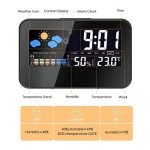 Hygrometre Electronique,GLISTENY Numérique Thermomètre avec LCD Digital ,Station Meteo avec Horloge Numérique et Réveil, Calendrier, Rétroéclairage de Contrôle Vocal de la marque Glisteny image 3 produit