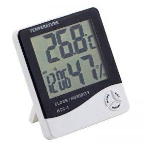hygromètre de température, Homgrace Digital LCD Température électronique humidité Mètre testeur de station météo Intérieur Extérieur Réveil, max 50℃-69℃ de la marque Homgrace image 0 produit