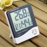 hygromètre de température, Homgrace Digital LCD Température électronique humidité Mètre testeur de station météo Intérieur Extérieur Réveil, max 50℃-69℃ de la marque Homgrace image 1 produit