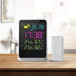 Iflying Réveil numérique sans fil avec rétroéclairage LCD Température Humidité Affichage de l'écran de la marque IFLYING image 5 produit