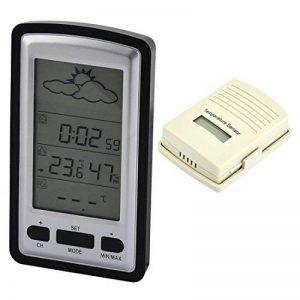 Intérieur extérieur sans fil température thermomètre numérique prévision météo de la marque sourcingmap image 0 produit