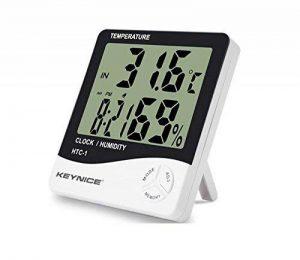 Keynice Intérieur Thermomètre et hydromètre pour maison ou bureau avec LCD digital affichage réveil numérique HTC-1 de la marque KEYNICE image 0 produit