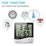 Keynice Intérieur Thermomètre et hydromètre pour maison ou bureau avec LCD digital affichage réveil numérique HTC-1 de la marque KEYNICE image 1 produit