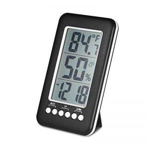 KKmoon Horloge Thermomètre Hygromètre 3 en 1, LCD ℃ / ℉ Horloge / Testeur de Température et d'Humidité Numérique Intérieur Sans Fil avec Fonction d'Alarme, le Réveil (Batterie non Incluse) de la marque KKmoon image 0 produit