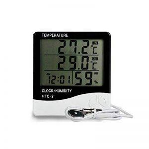 KKmoon HTC-2 Numérique Température et Humidité Compteur Intérieur et Extérieur Grand Écran Affichage Temps Calendrier Alarme Thermomètre et Hygromètre de la marque KKmoon image 0 produit