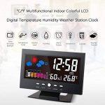 KKmoon Multifonctionnel Color LCD Thermomètre Hygromètre Électronique Numérique avec Fonction d'Alarme Horloge Réveil Calendrier Comfort Level Backlight de la marque KKmoon image 1 produit
