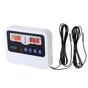 KKmoon Simple-circuit LED Intelligent Haute Puissance Thermostat Thermostat Contrôleur Pré-câblé NTC Chauffage Refroidissement Commutateur De Commande avec 2 Capteur Imperméable Capteur de la marque KKmoon image 0 produit