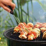 kwmobile Thermomètre sonde de cuisine - Thermomètre numérique de cuisson en acier inoxydable avec écran LCD - Pour viande BBQ grill lait de la marque kwmobile image 1 produit
