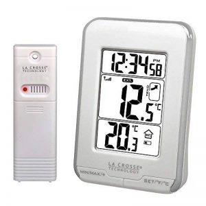 La Crosse Technology WS6810 Station de températures intérieure/extérieure -Blanc et Argent de la marque La Crosse Technology image 0 produit
