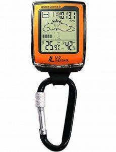 [LAD Weather] Mousqueton montre altimètre/baromètre/boussole numérique/prévisions météo/hygromètre/thermomètre American Sensor d'escalade/course/randonnée de la marque LAD WEATHER image 0 produit