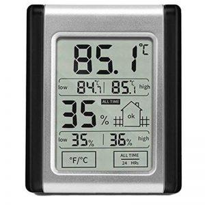 Électronique Hygromètre Thermomètre, Haute-Basse Hygrothermographe Numérique à écran Tactile, Double Affichage Outil de Test de Surveillance du Temps Humide et Sec pour L'utilisation à Domicile de la marque MansWill image 0 produit