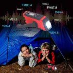 LED Solaire Radio, 6 en 1 de secours Manivelle multifonction d'urgence Radio, radio AM/FM/Noaa Dynamo intégrée 2000 mAh Power Bank de la marque ZeKu image 4 produit