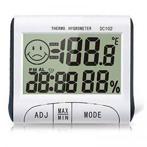 Myfei écran LCD, thermomètre, multi-usage Digital Thermomètre hygromètre Température magnétique Réveil station météo Diagnostic-tool, humidité Température Mètre testeur Horloge pour l'utilisation à domicile de la marque Myfei image 0 produit