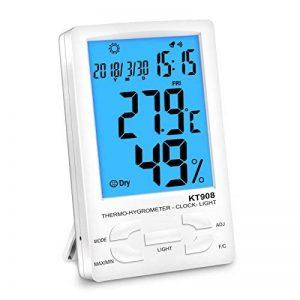 Nekan Thermomètre Hygromètre Intérieur Sans Fil LCD digital pour Rétro-éclairage Mémoire de Max/Mini Date Heure Alarme Précis °C/°F commutateu de la marque NeKan image 0 produit