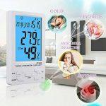 Nekan Thermomètre Hygromètre Intérieur Sans Fil LCD digital pour Rétro-éclairage Mémoire de Max/Mini Date Heure Alarme Précis °C/°F commutateu de la marque NeKan image 2 produit