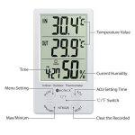 Neoteck Thermo-hygromètre Thermomètre Hygromètre Numérique LCD Intérieur Extérieur Hygro-thermomètre Thermostat Humidité Mesure de Température 1.5m Min / Max Fil de Capteur pour la Gestion de l'Air Conditionné Bureau Hôtel Chambre Hôpital Laboratoire Indu image 4 produit