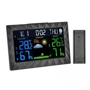 Neutre Station Météo Thermomètre Hygromètre Baromètre sans Fil Prévision Météo Intérieur/Extérieur Avec Ecran LCD Couleur et Sonde de la marque Neutre image 0 produit