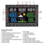 Neutre Station Météo Thermomètre Hygromètre Baromètre sans Fil Prévision Météo Intérieur/Extérieur Avec Ecran LCD Couleur et Sonde de la marque Neutre image 4 produit