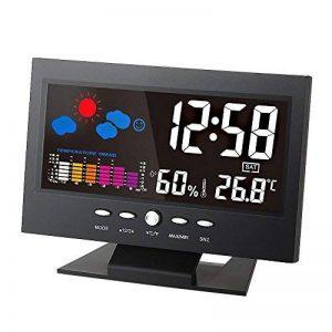 Nouveau Thermomètre Hygromètre Numérique Station météo réveil calendrier à couleurs de la marque Vinciann image 0 produit