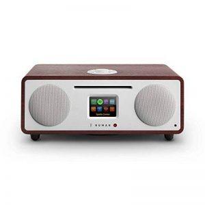 Numan Two 2.1 • Radio Internet Design • Dab/Dab+/FM • CD • Spotify • TFT • RDS • WiFi/Réseau • BT • AUX • 2 Enceintes • Subwoofer • 2 égaliseurs • RMS 30 Watts • Radio Réveil • Marron de la marque Numan image 0 produit