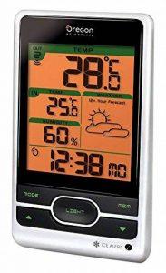 Oregon Scientific BAR206 - Station Météo avec prévisions météorologique et alerte gel (Argenté/Noir) de la marque Oregon Scientific image 0 produit
