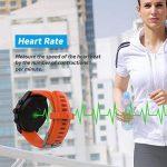Parnerme Sports GPS Montre avec Dynamique de la fréquence cardiaque prévision météo Smart Watch Compatible iOS 8.0 et Android 4.4 et au-dessus avec 3-4 Jours de veille station de chargement(Orange) de la marque Parnerme image 4 produit