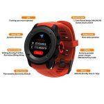 Parnerme Sports GPS Montre avec Dynamique de la fréquence cardiaque prévision météo Smart Watch Compatible iOS 8.0 et Android 4.4 et au-dessus avec 3-4 Jours de veille station de chargement(Orange) de la marque Parnerme image 3 produit