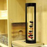 Pawaca Creative Galileo Thermomètre en verre de storm hygromètre et verre Fluide Baromètre, avec flotteurs de couleur et doré balises dans un support en bois Bureau à domicile Décorations de Noël Anniversaire Amant cadeaux de la marque Pawaca image 1 produit
